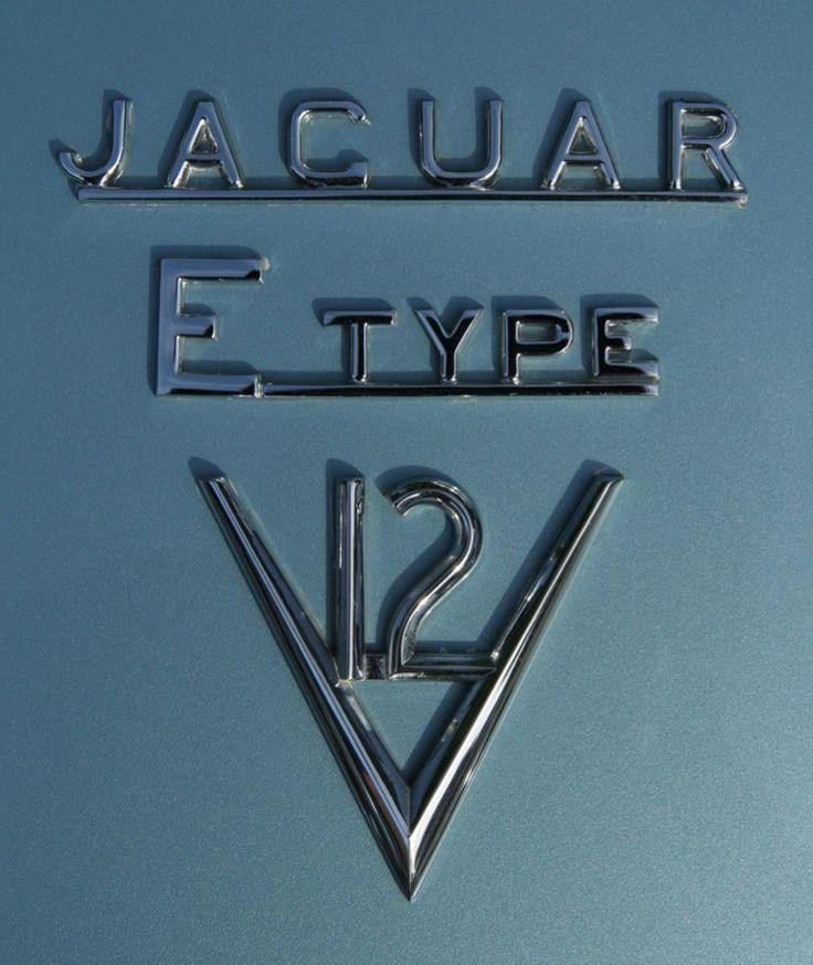 Jaguar E type V12 Logo.