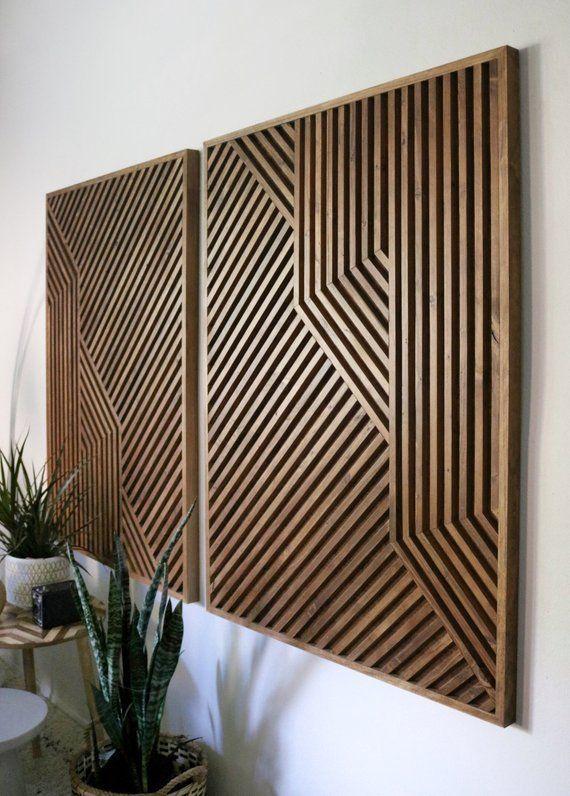 Holzkunst, Holz Wandkunst, geometrische Holzkunst, geometrische Wandkunst, aufgearbeitete Hol…