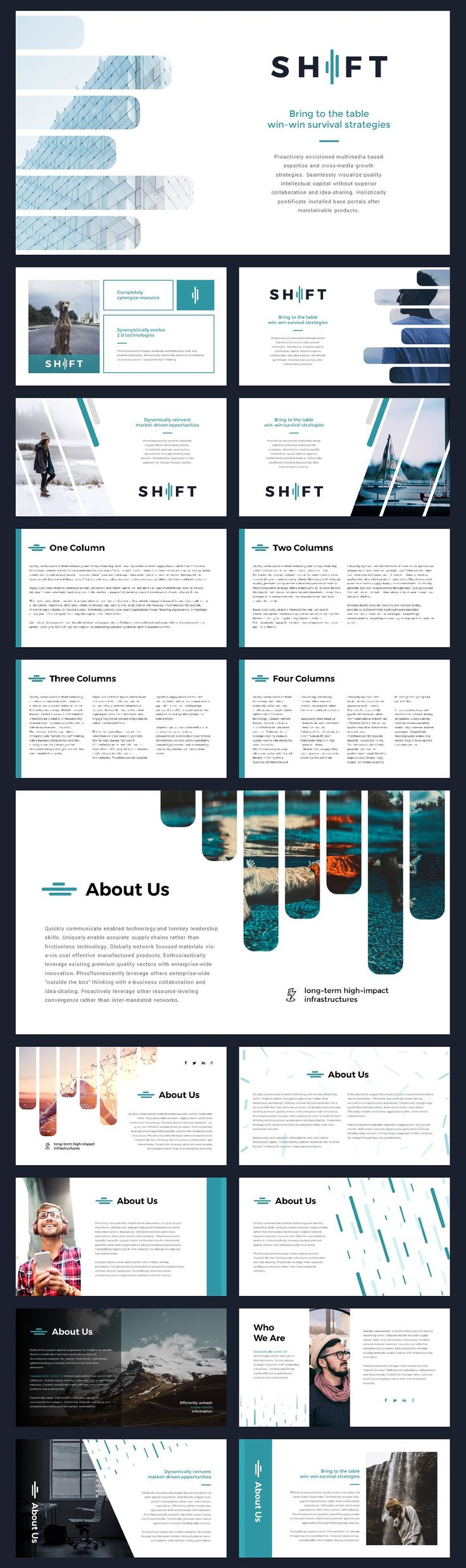 Shift Modern Powerpoint Template by Thrivisualy on @creativemarket