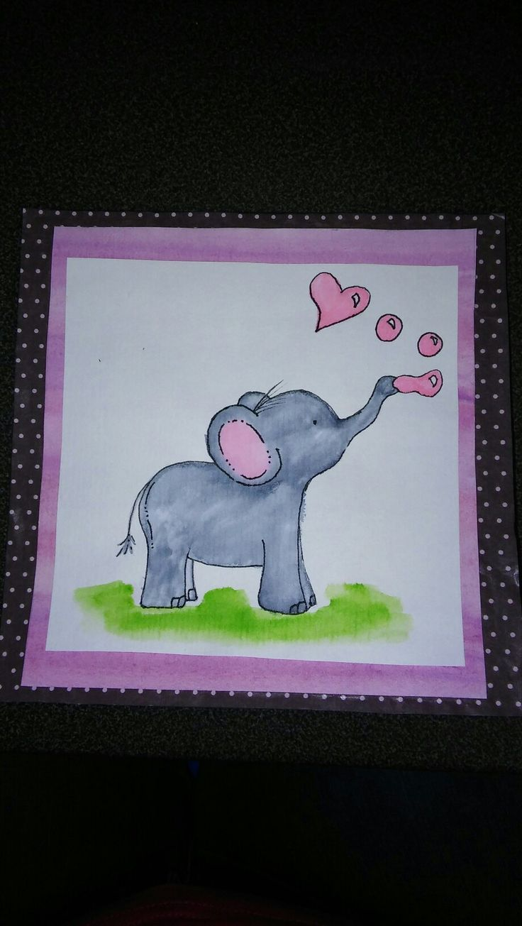 My version, elephant card for kids