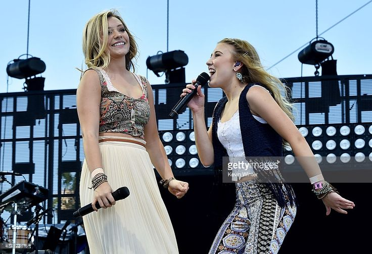 Singers Tae Dye (L) and Maddie Marlow of Maddie & Tae perform onstage during day three of 2015 Stagecoach, California's Country Music Festival, at The Empire Polo Club on April 26, 2015 in Indio, California.