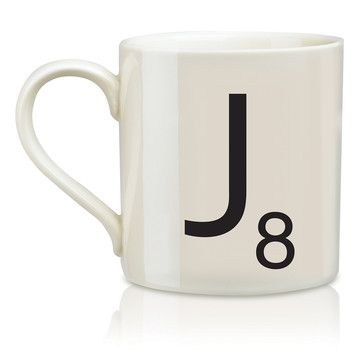 SCRABBLE Mug J, $14.99, now featured on Fab.