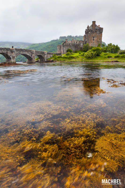 Algas y castillo Eilean Donan Castillo de Eilean Donan Escocia Reino Unido Castillo de Eilean Donan, el más romántico de Escocia