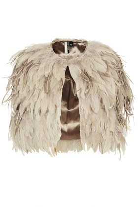 Feather Mix Cape - Faux Fur & Shearling - Jackets & Coats  - Clothing
