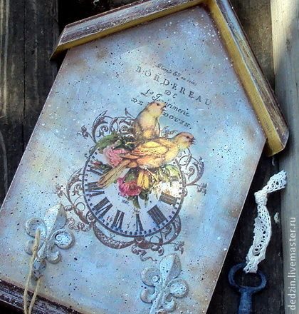"""Ключница """"Вместе навсегда"""" - ключница,ключи,для ключей,птички,прихожая"""