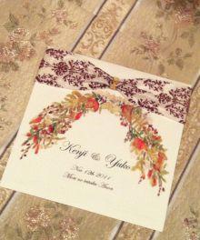 秋の森をイメージしたデザイン性の高い招待状はもらった方も嬉しい♡秋の結婚式の招待状一覧♪