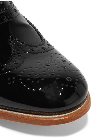 Church's - The Burwood Glossed-leather Brogues - Black - IT38.5