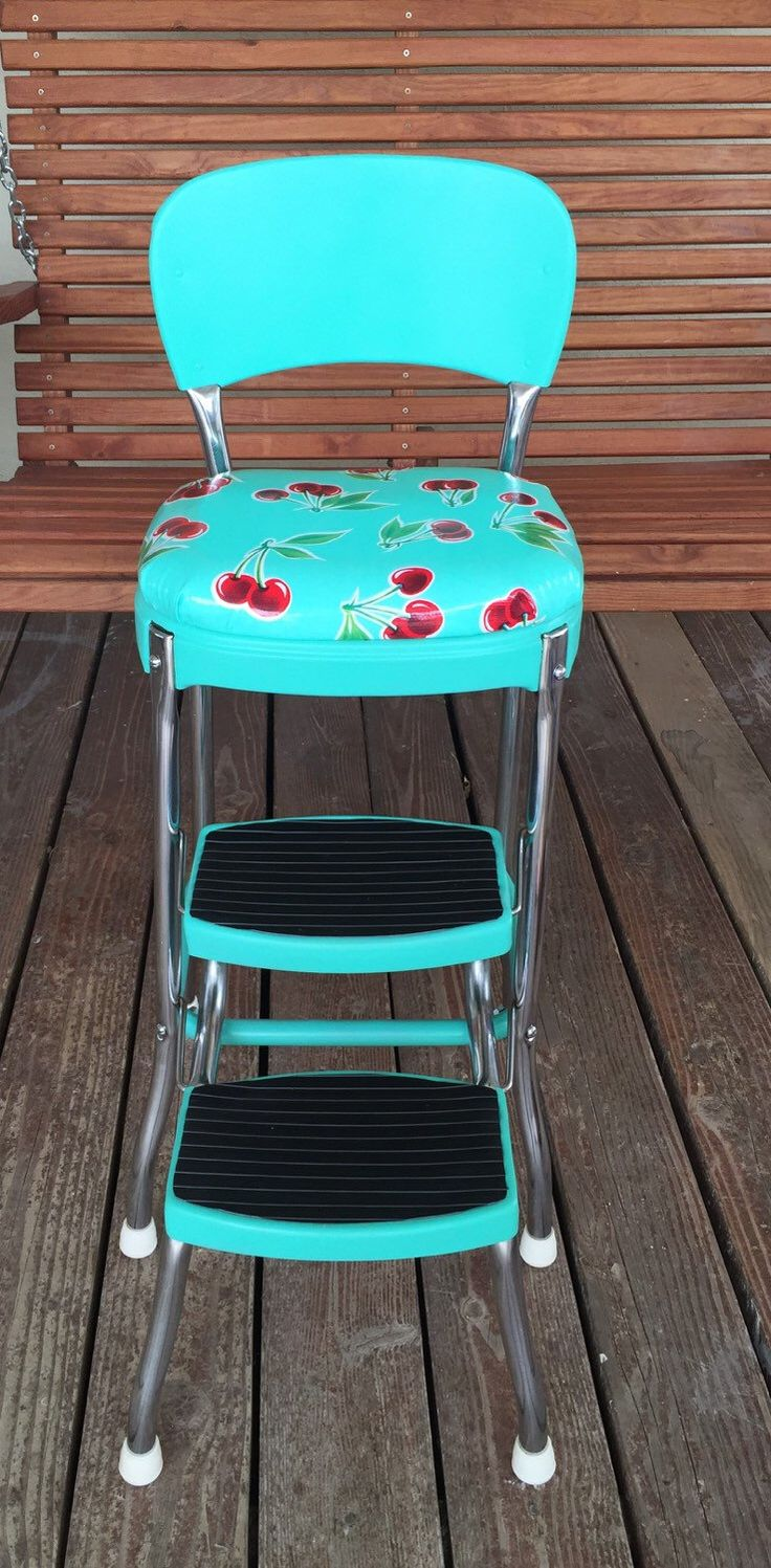 A personal favorite from my Etsy shop https://www.etsy.com/listing/250050909/vintage-upcycled-step-stool-chair-with