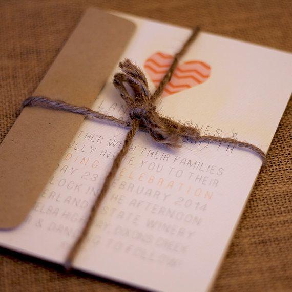 "DIY wedding invitation // digital file // printable // print at home - ""I heart you""   Wedding   Pinterest   Diy wedding invitations, DIY wedding and Wedding"