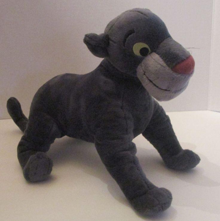 "Disney Store The Jungle Book Core Bagheera Black Panther Plush 16"" Nose to Tail #Disney"