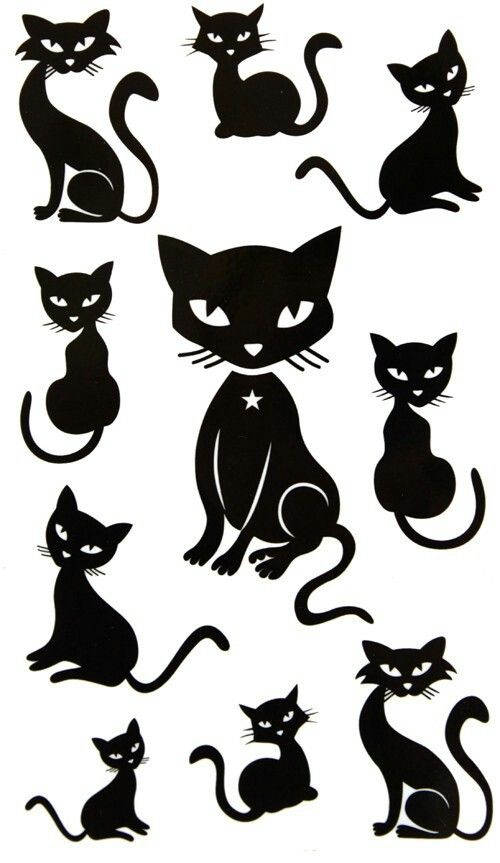 Some cool black cat templates