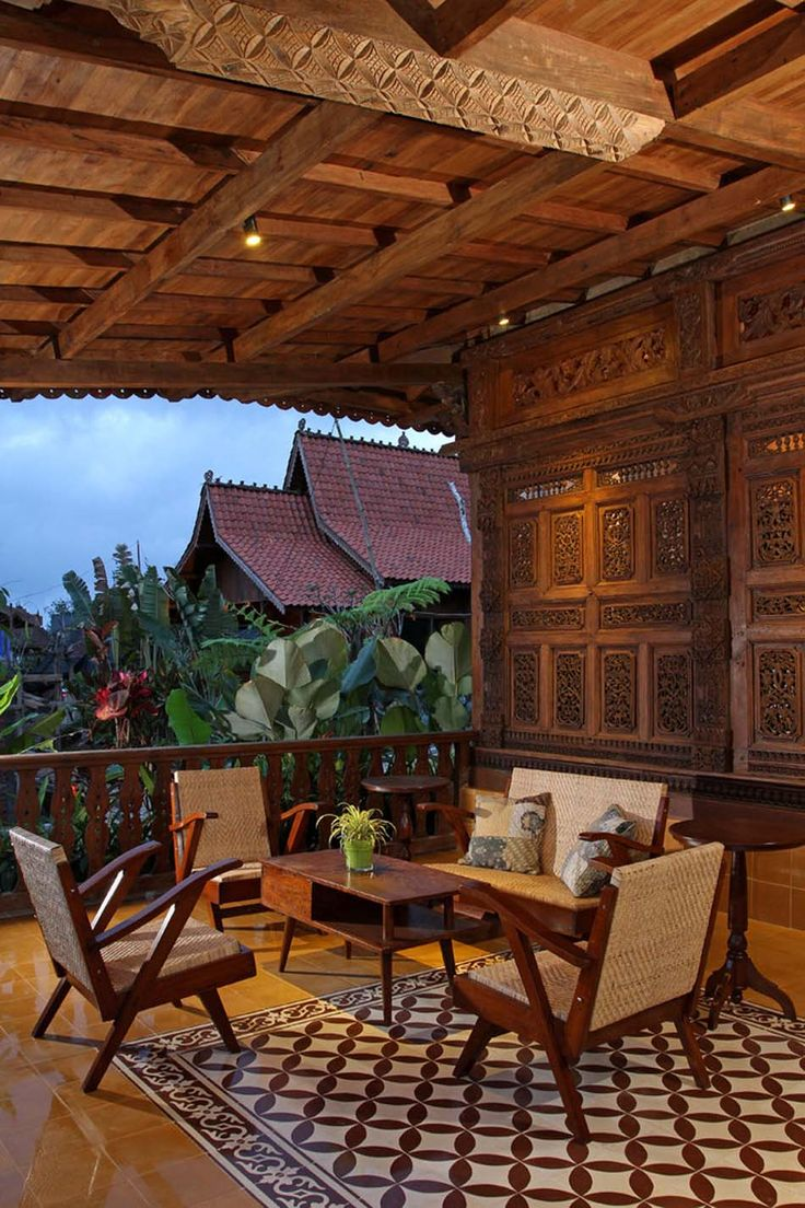 House design indonesian style - Porch Tropical Porch Other Metro Iwan Sastrawiguna Interior Design