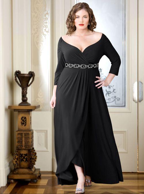 plus size black dress  #gordinhas ----------------------------------------- http://www.vestidosonline.com.br/modelos-de-vestidos/vestidos-gordinhas