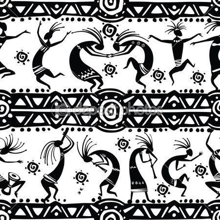 textura sin fisuras con figuras de baile — Ilustración de stock #33756717                                                                                                                                                                                 Más