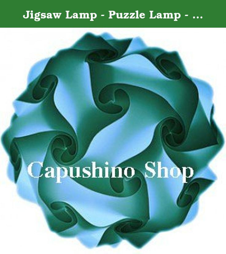 Jigsaw Lamp - Puzzle Lamp - Iq Lamp Size M [ Color : Light Blue , Diameter Of Circle 35 Cm ] -Self Assembly. Fabulous infinity Lights available in many colors. Excellent for indoor decorations. Includes 30 pieces.