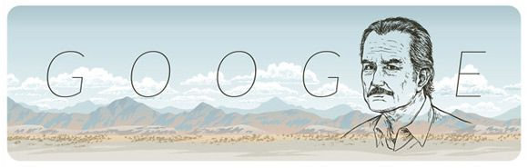 85º aniversario del nacimiento de Carlos Fuentes en el Doodle