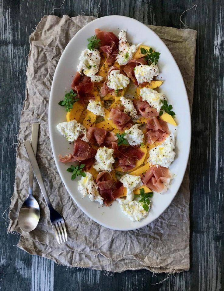 Ein perfektes Essen für heiße Tage – Prosciutto, Mozzarella, Nektarine