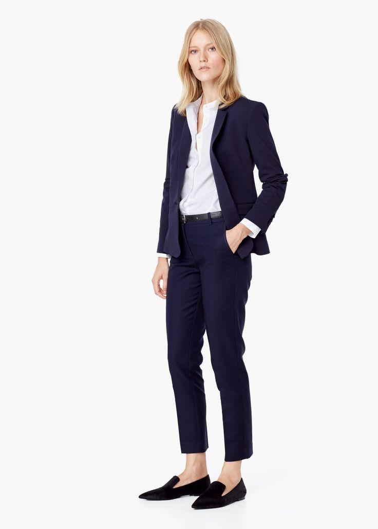 Essential cotton-blend blazer
