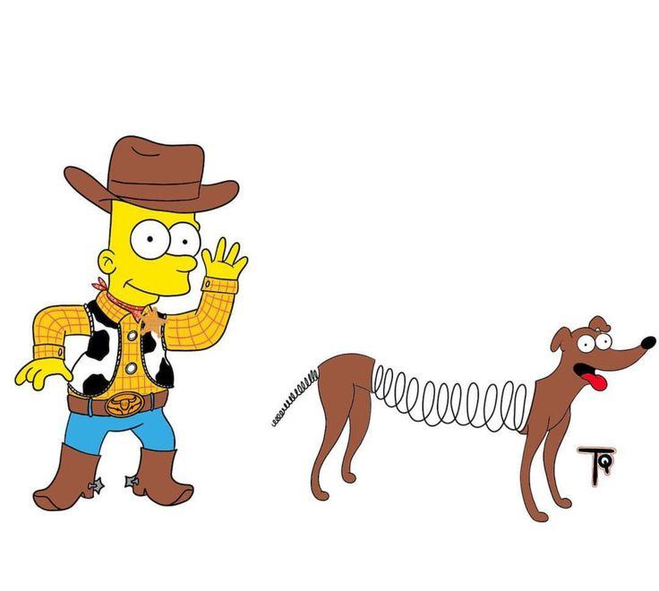 Bart & Santa's Little Helper x Toy Story, The Simpsons