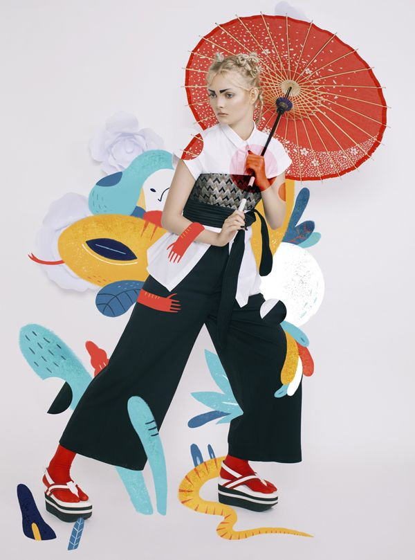 bersama-sarkodit:  Harper`s Bazaar Art Indonesia Magazine  JAPONISM Fashion Spread   first issue // May 2015     Photography : Rakhmat Hidayat  Fashion Editor : Veronica Arviana  Illustration : Aditya Pratama  Model : Vilena (Amore Model)  Make up : Rommy Andreas  Retoucher : Veby Citra  Flower paper : Sarah Hutapea  Shoes : Geofanny Tambunan