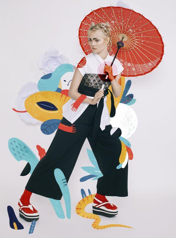 bersama-sarkodit:  Harper`s Bazaar Art Indonesia Magazine  JAPONISM Fashion Spread   first issue // May 2015     Photography : Rakhmat Hidayat  Fashion Editor : Veronica Arviana  Illustration : Aditya Pratama  Model : Vilena (Amore Model)  Make up : Rommy Andreas  Retoucher : Veby Citra  Flower paper : Sarah Hutapea  Shoes : Geofanny Tambunan