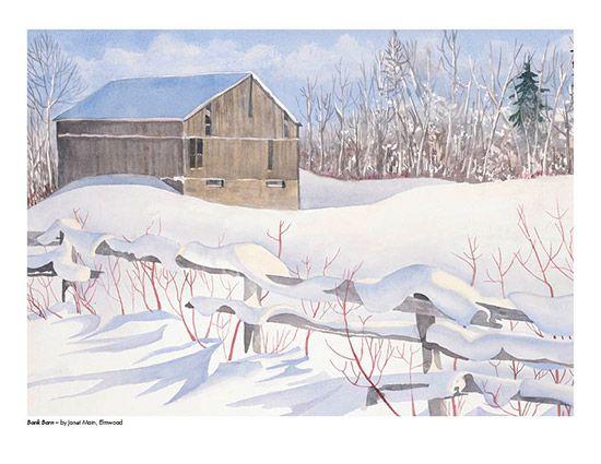 2015 Landscape Calendar | The Art Map Bank Barn by Janet Main - February