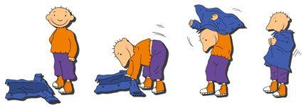 Jules : hoe doe ik een jas aan versje : jasjes op de grond, handjes in de mouw over je hoofdje, probeer maar gauw
