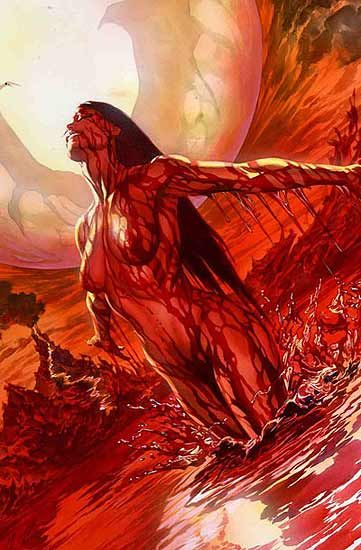 Vampirella cover by Alex Ross