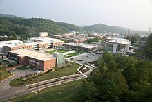 An aerial photo of the Oak Ridge National Laboratory campus.  Wiki link.