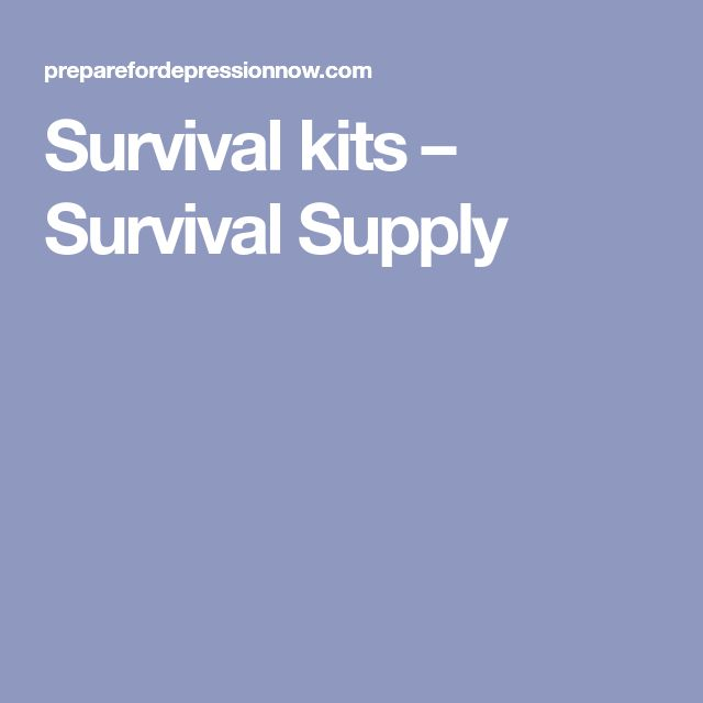 Survival kits – Survival Supply