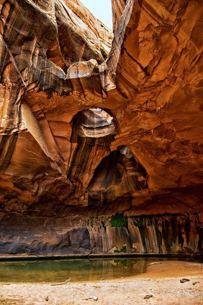 Hike to Golden Cathedral, Utah. You'll find this trail in Grand Staircase-Escalante National Monument.