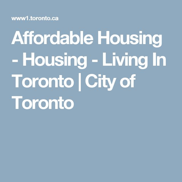 Affordable Housing - Housing - Living In Toronto | City of Toronto