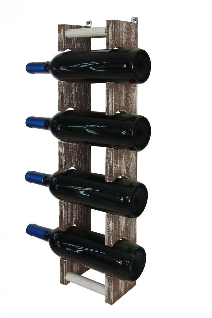 Stojak na wino wiszący RW-18 1x4 4 butelki - Seria RW-18 - Regały na wino