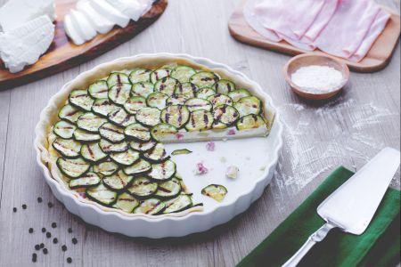 Crostata salata con ricotta e zucchine