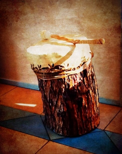 Water Drum - Hollowed by hand and made in the tradition of the Native American Indian sacred water drums.