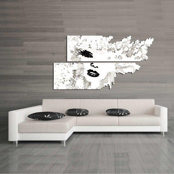 Quadri figurativi | volto bianco e nero  SI-156 | 210x120 cm