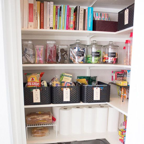 Check out this pantry post full of eclectic storage solutions and helpful tips to give you a head start on your post-holiday organizing!