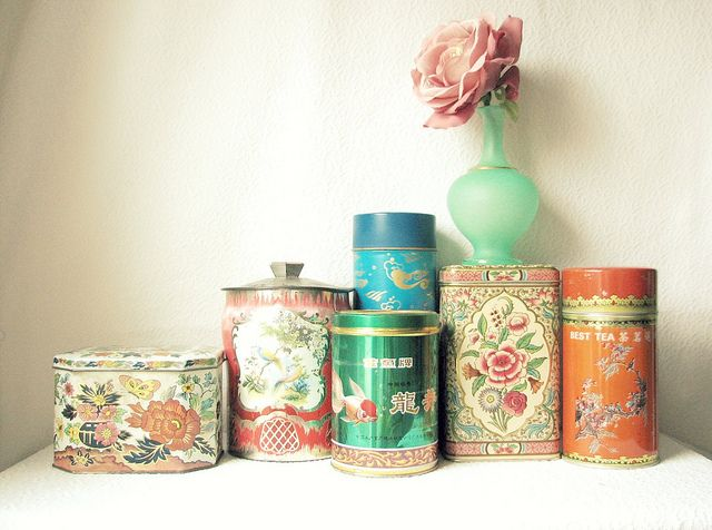 {Tin Types by Trisha Brink Designs} I love old candy and tea tins.