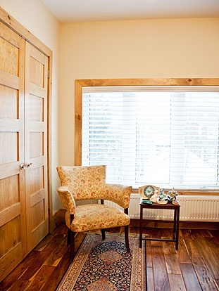 Brock Street Renovation - The back bedroom boasts large windows and two extra deep closets.