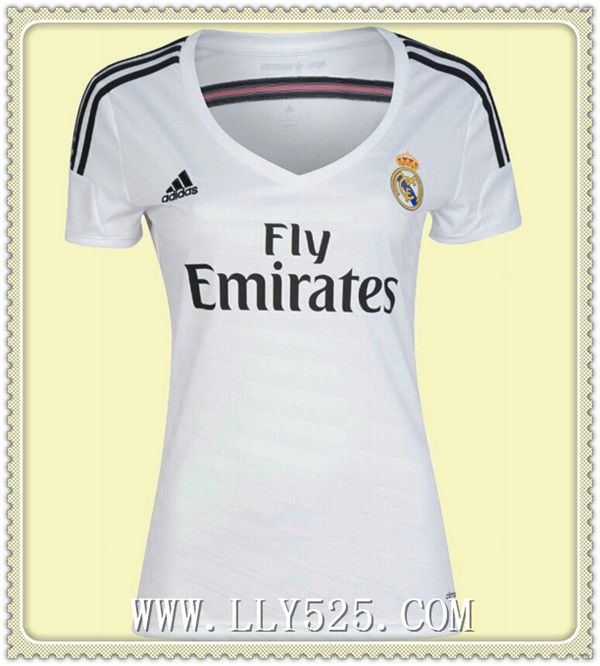 Acheter Maillot de foot Femme Real Madrid 2014 2015 Domicile Maillot de foot Femme Pas cher 2014 2015 du www.lly525.com