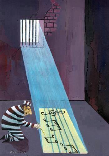 Music has no borders...: Music, Life, Prison, Cartoon, Illustration, Humor, Music Art, Things, Photo