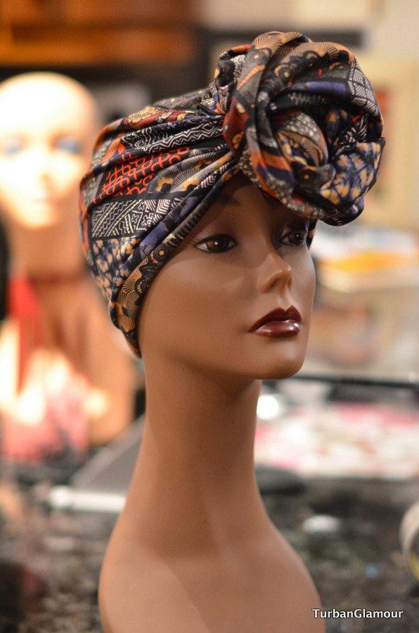 PRESEWN African Print Ankara Scuba Headwrap  - Ready To Wear Headwrap | African HeadwrapI Pret A Porter African Print Ankara Headtie Cap #gele