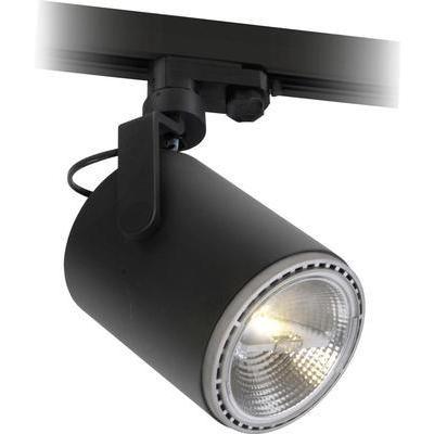 Hochvolt-Schienensystem-Leuchte 3phasig E27 20 W LED Megatron Morpheus Schwarz