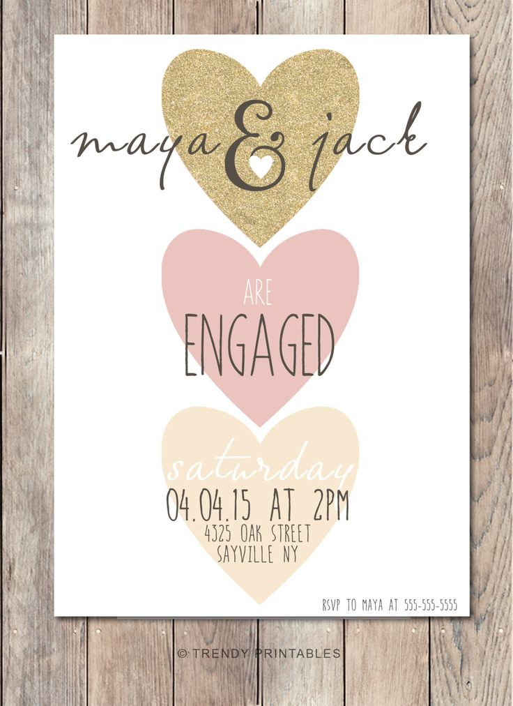 2628 best Engagement Party Invitations images on Pinterest - free engagement invitation templates