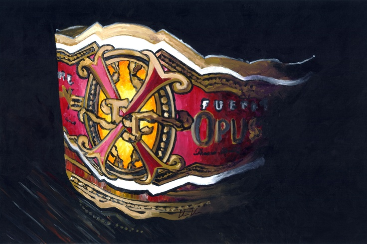 Painting of the Famous Fuente Fuente OpusX cigar band