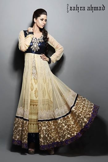 Most current Pakistani Fashion Frocks 2014-2015 | Women Designer Dresses | 2015 Hairstyle Ideas