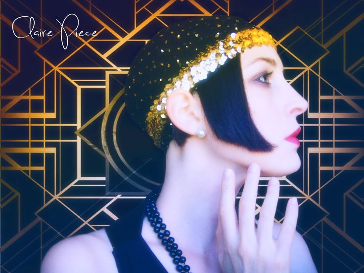 "Inspired by ""The great Gatsby"" movie. #20s #retro #lady #glamour #fashion #gatsby #model #movie #love #party #photo #vintage #makeup #hairstyle #beauty #black #look #charlie #pearl #pearls #gold"