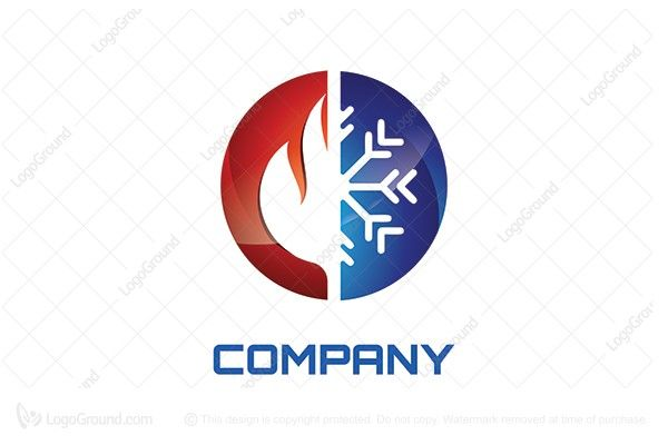 Cool Heat Logo Air Conditioning Logo Plumbing Logo Design Logos