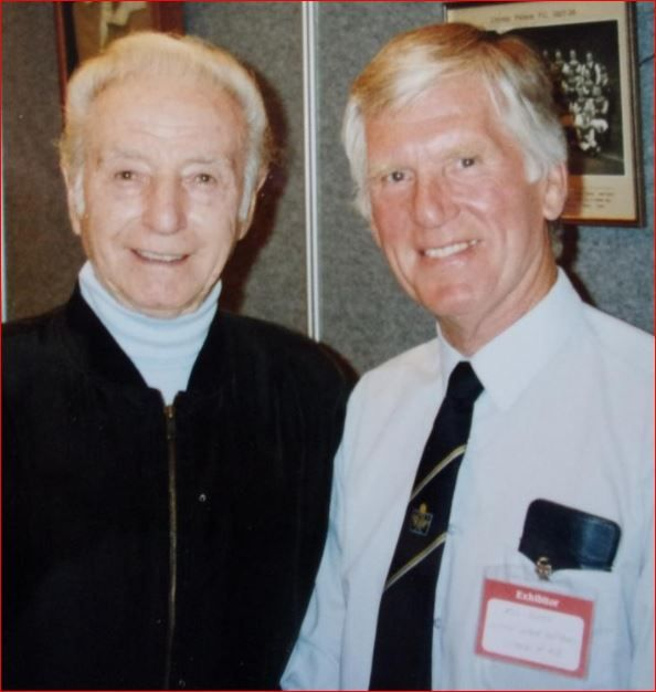 Ron Hobbs (who took over from Dad) with Sir Stanley Mathews...a great supporter of L.L.Football