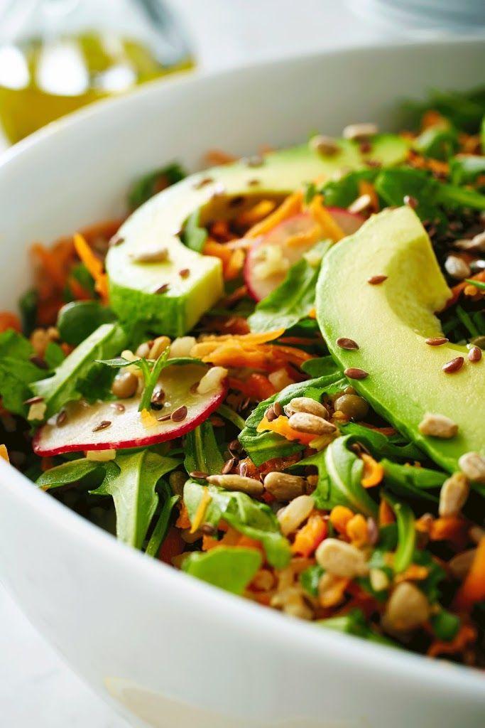 Lentil Carrot Avocado Salad
